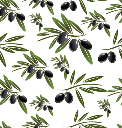 Black Olive seamless background Vector