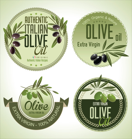 Olive labels collection Vector