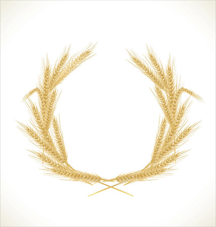 yield sign: Wreath of wheat Illustration