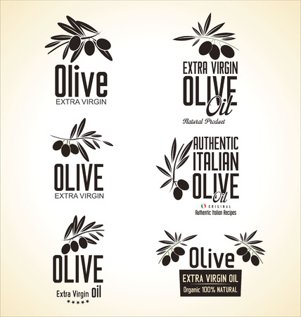 Olive Label set Vector