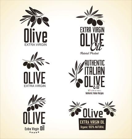 olive illustration: Olive Label set