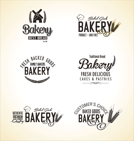 Bakery labels collection Vector