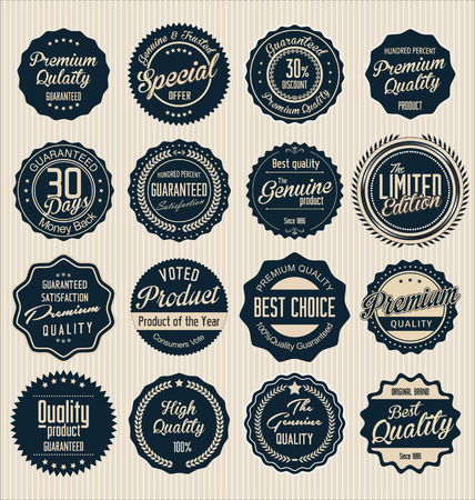 retro badge: Premium quality labels collection