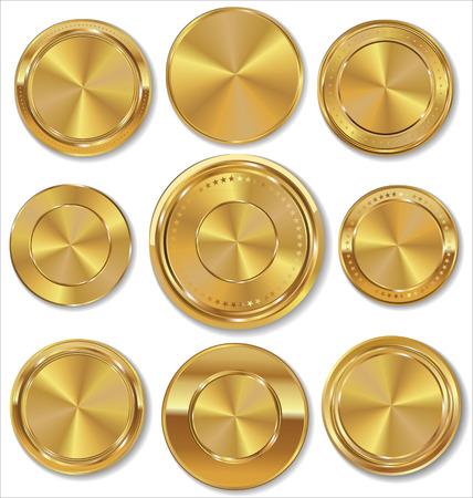 metal sheet: Golden labels collection