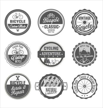 mountain bike: Bicycle retro vintage badge collection