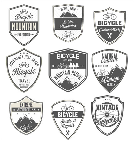 sign store: Bicycle retro vintage badge collection