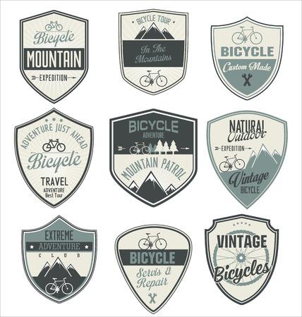 Bicycle retro vintage badge collection Vector