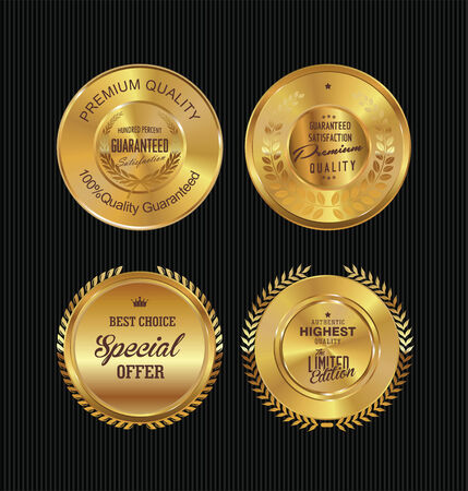Golden labels collection Vector