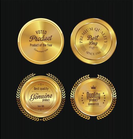 insignias: Colecci�n de etiquetas de oro