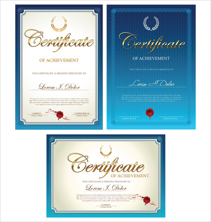 Certificate template collection Vectores