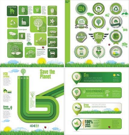 Ecology design template Vector