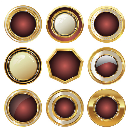 metal button: Golden labels collection