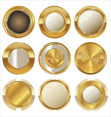 golden texture: Golden labels collection