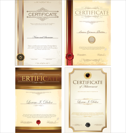 certificate template: Certificate template collection Illustration
