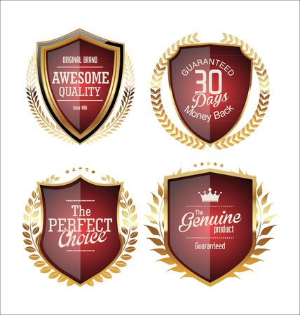 wax glossy: Golden Premium Quality Labels