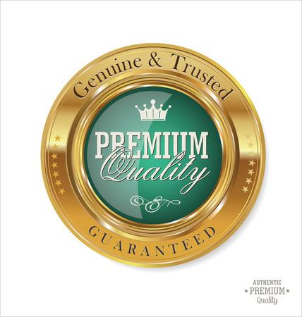 プレミアム品質のレトロなラベル