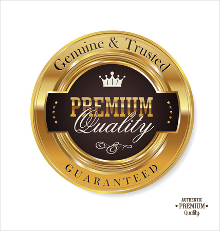 offer icon: Premium quality golden labels