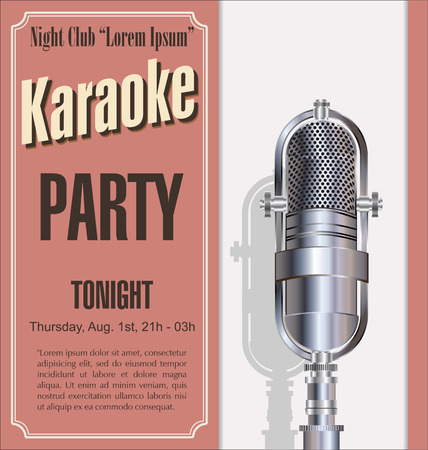 vocal: Karaoke party background Illustration