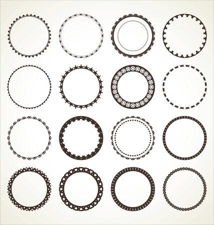 marcos redondos: Conjunto de marcos redondos Vectores