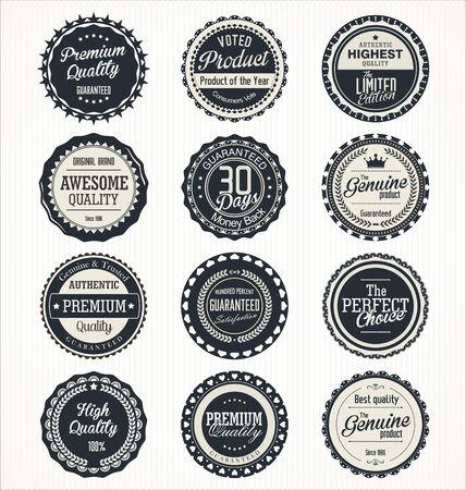 badge icon: Premium Quality retro Labels