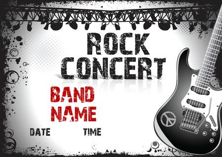 concerto rock: cartel del concierto de rock Vectores