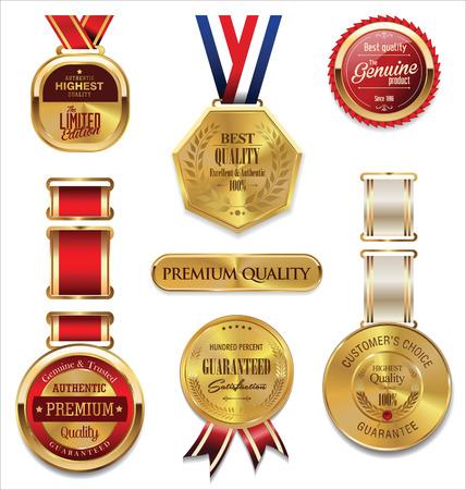 ganador: Oro superior de la calidad y colecci�n de medallas rojo