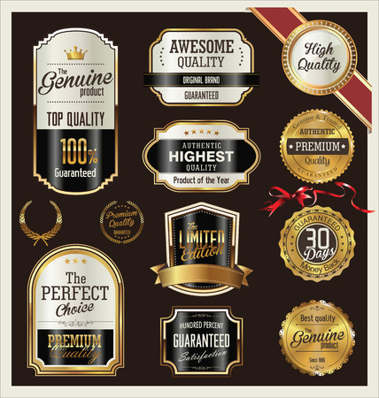 premium quality: Premium, quality retro vintage labels collection