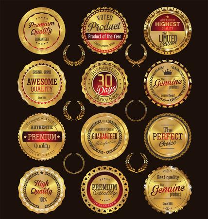 Premie, kwaliteit retro vintage etiketten collectie