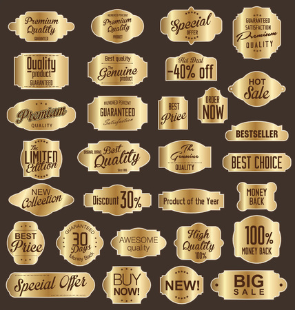 Vintage sale labels collection design elements, Premium quality Vector