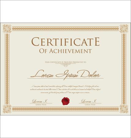 Plantilla de certificado Foto de archivo - 32927420