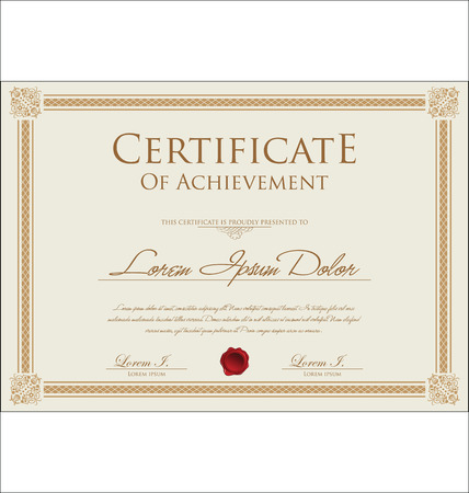 Certificate template Illustration