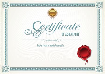sellos: Plantilla de certificado Vectores