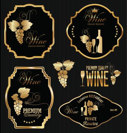 Wein-Etiketten