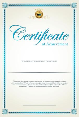 Plantilla de certificado Vectores