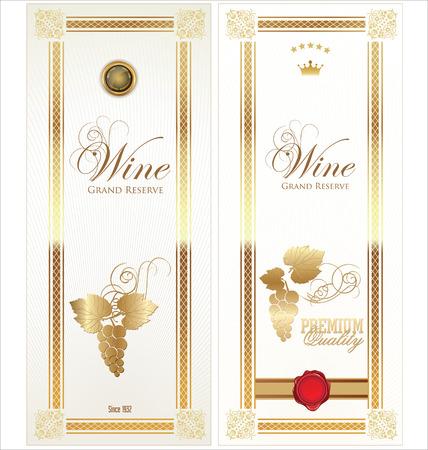 Gouden wijnetiket collectie
