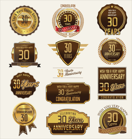 30: Anniversary golden label