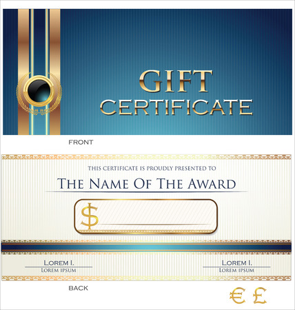 plastic card: Gift certificate template