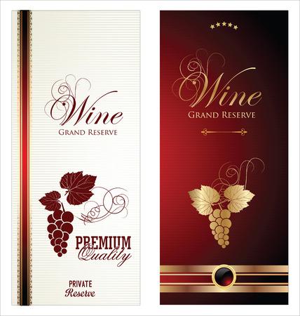 Rótulos de vinho Ilustração