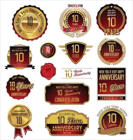 10 years anniversary: Anniversary golden label