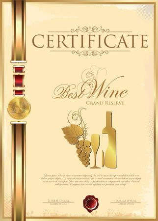 red wine glass: Certificate - Best Wine