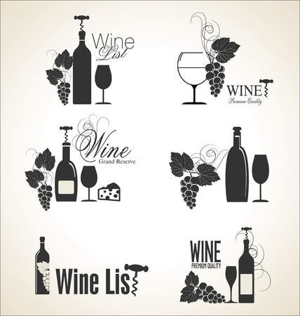 wine and dine: Wine design Illustration