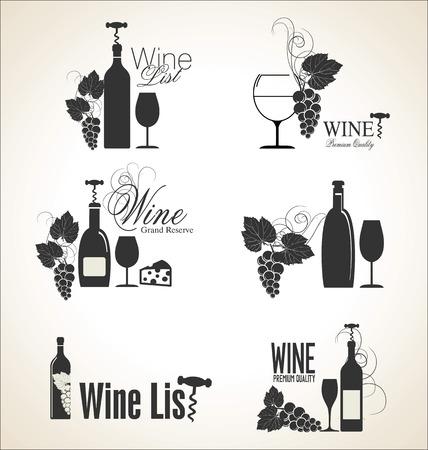 dine: Wine design Illustration