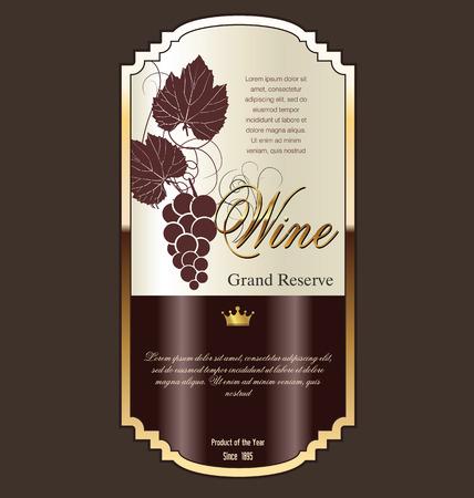 french label: Wine label Illustration