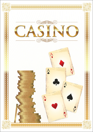 gambling chip: Casino vector background