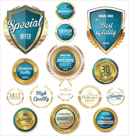 sellos: Premium, retro vintage etiquetas de calidad colecci�n