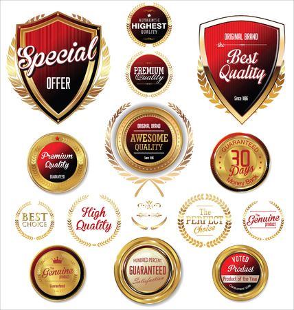 quality icon: Premium, quality retro vintage labels collection