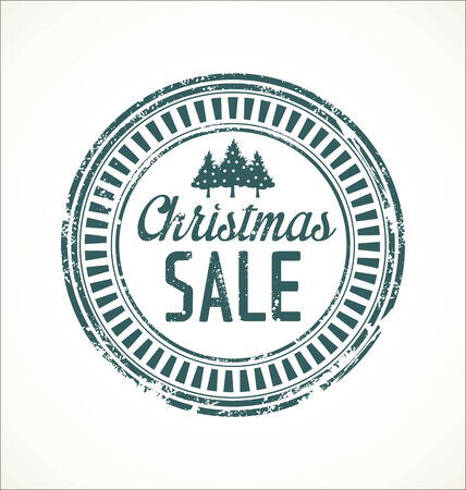 Christmas sale grunge stamp Vector