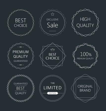 minimalistic: Minimalistic premium quality badge collection