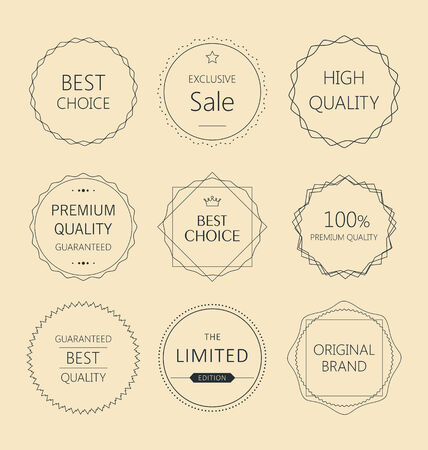 premium quality: Minimalistic premium quality badge collection