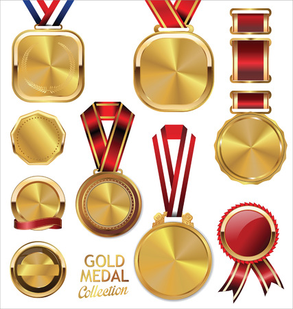 Gold medal collection Vector